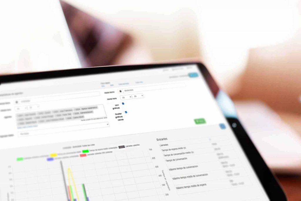 Interfaz que facilita la gestión de tu centralita Voip